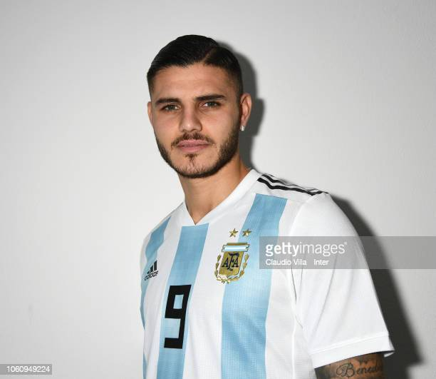Footballer Mauro Icardi is photographed on November 9 2018 at Appiano Gentile Como Italy