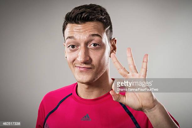 Footballer Mesut Ozil is photographed for FourFourTwo magazine on November 7 2013 in London England