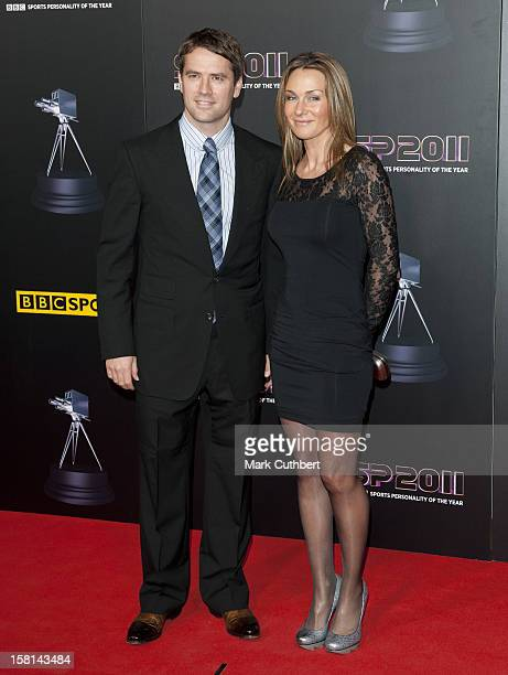 Footballer Michael Owen And His Wife Louise Arriving For The Sports Personality Of The Year Awards 2011 At Mediacityuk Salford Manchester