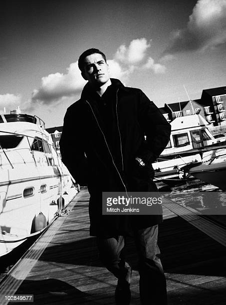 Footballer Michael Owen poses for a portrait shoot on October 10 2000 in London