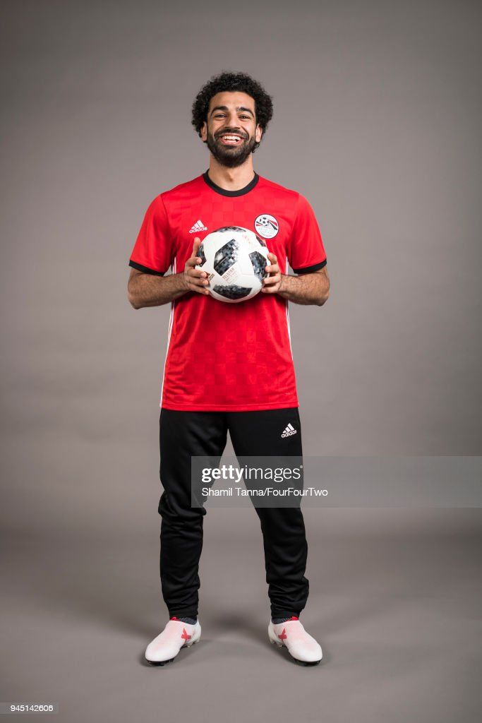 Footballer Mo Salah is photographed for Four Four Two magazine on January 12, 2018 in London, England.