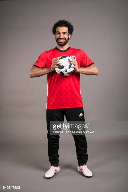 Footballer Mo Salah is photographed for Four Four Two magazine on January 12 2018 in London England