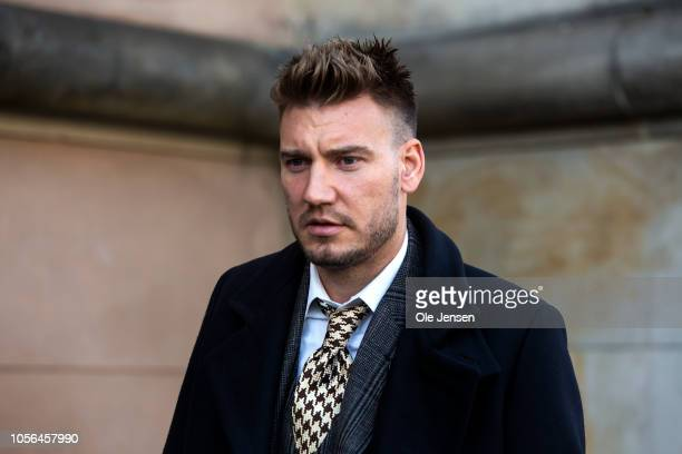 Footballer Nicklas Bendtner seen at the court case regarding Bendtners charge for violence towards a taxi driver in September this year on November 2...