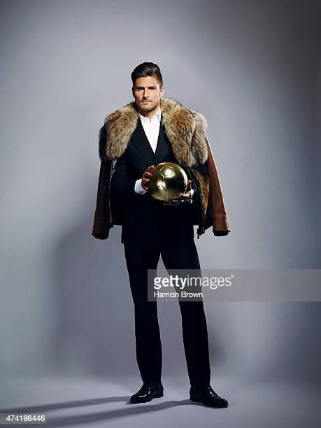 Footballer Olivier Giroud is photographed for ES magazine on November 10 2014 in London England