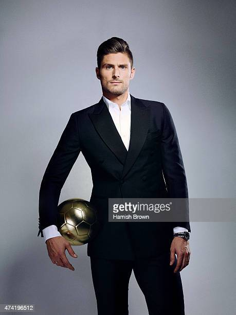 Footballer Olivier Giroud is photographed for ES magazine on November 10 2014 in London England