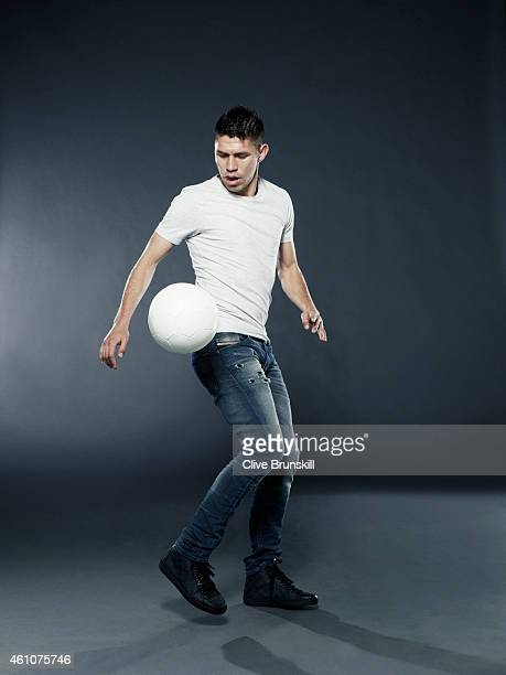 Footballer Oribe Peralta is photographed on December 17 2013 in London England