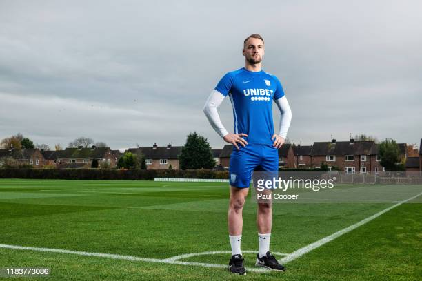 Footballer Patrick Bauer is photographed for the Telegraph on November 6 2019 in Preston England