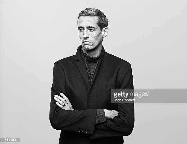 Footballer Peter Crouch is photographed for Mr Porter on October 28 2011 in London England