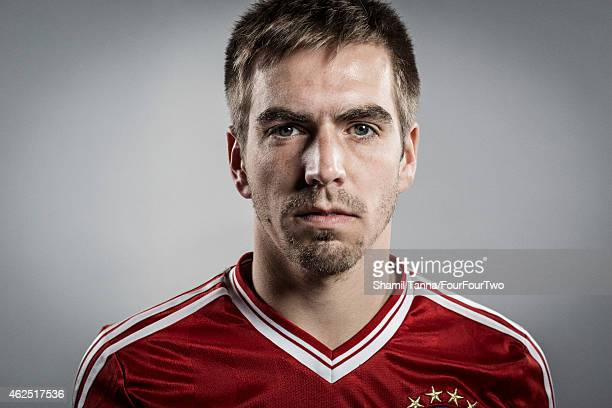 Footballer Philipp Lahm is photographed for FourFourTwo magazine on November 6 2013 in London England