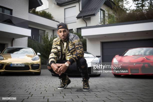 Footballer PierreEmerick Aubameyang is photographed for Paris Match on October 12 2017 in Dortmund Germany