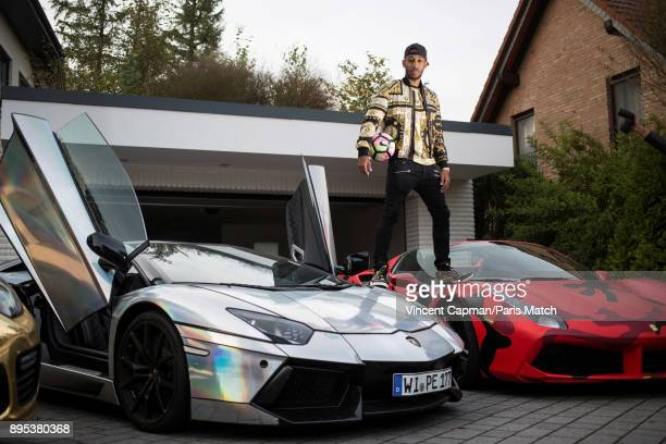 Footballer PierreEmerick Aubameyang is photographed for Paris Match on October 12 2017 in Dortmund Germany