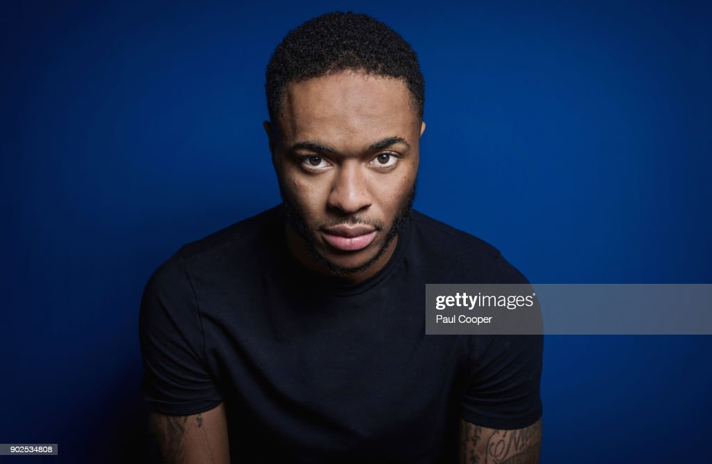Footballer Raheem Sterling is photographed for the Sunday Times on December 4, 2017 in Manchester, England.