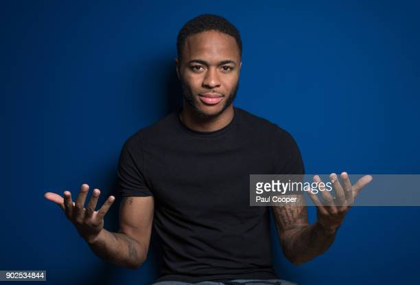 Footballer Raheem Sterling is photographed for the Sunday Times on December 4 2017 in Manchester England