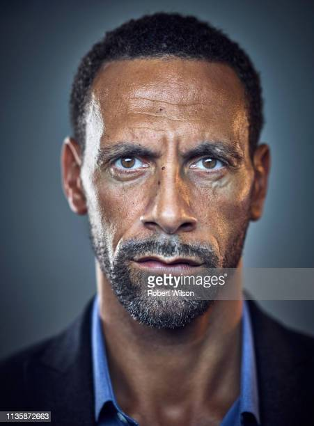Footballer Rio Ferdinand and tv pundit is photographed for the Times on May 5 2018 in London England