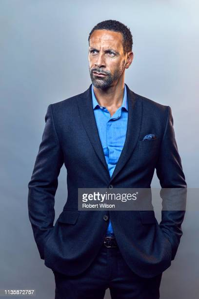 Footballer Rio Ferdinand and tv pundit is photographed for the Times on May 5, 2018 in London, England.