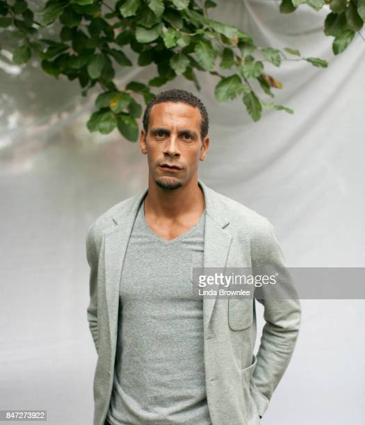 Footballer Rio Ferdinand is photographed for the Observer on August 3 2012 in London England