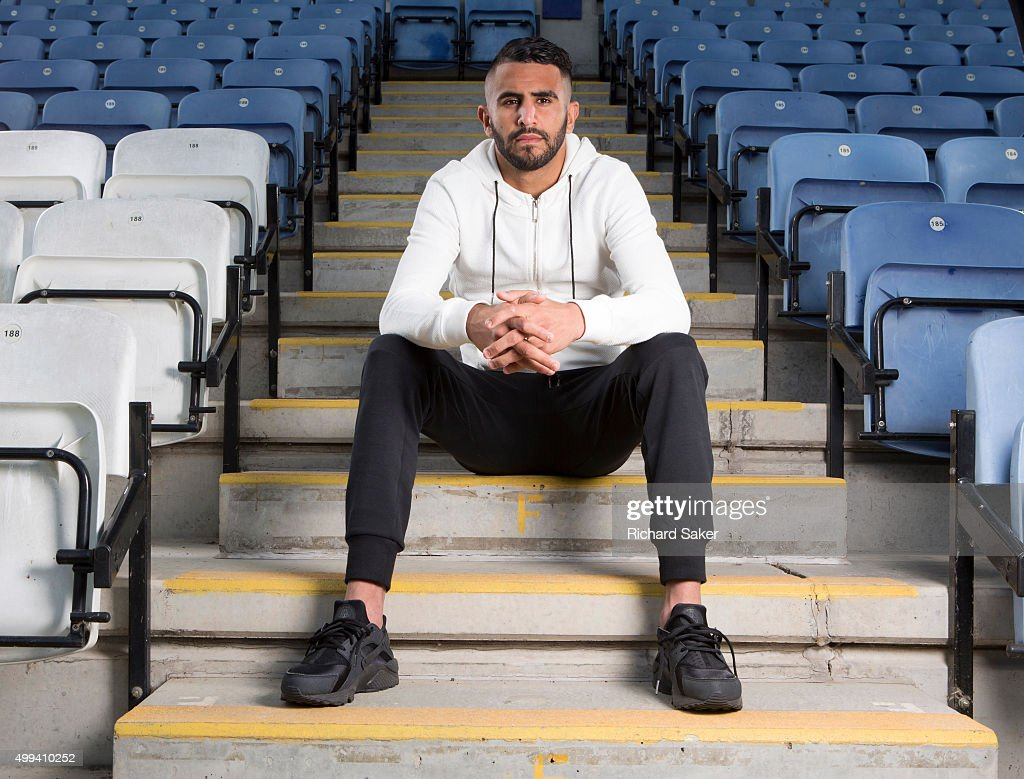 Footballer Riyad Mahrez is photographed for the Observer on September 11, 2015 in Leicester, England.
