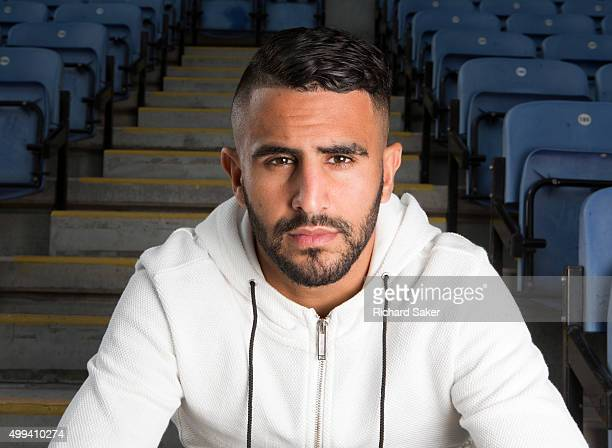 Footballer Riyad Mahrez is photographed for the Observer on September 11 2015 in Leicester England