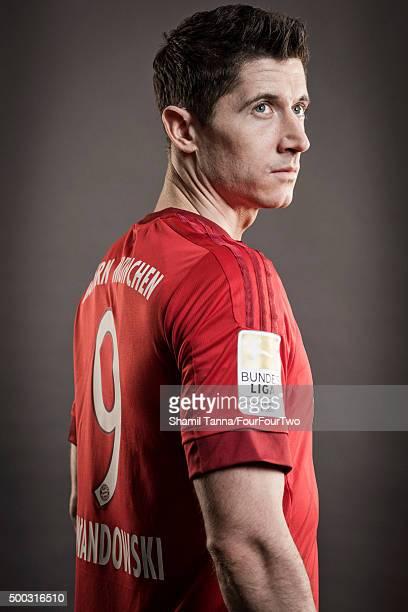 Footballer Robert Lewandowski is photographed for FourFourTwo magazine on October 19 2015 in Munich Germany