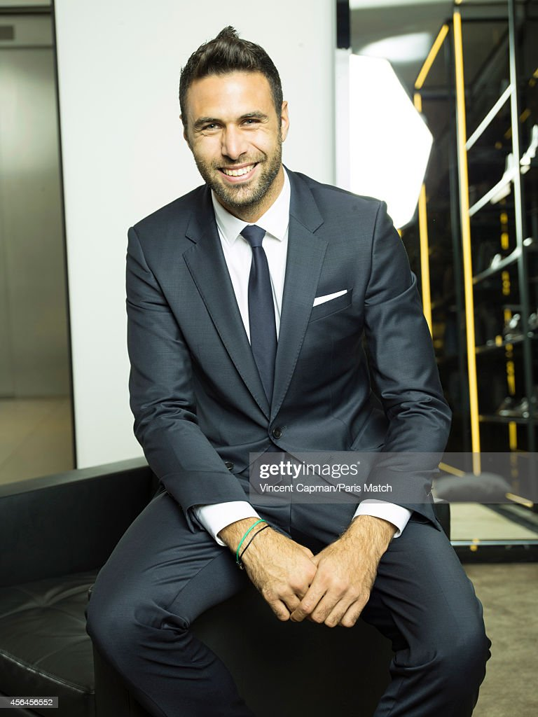 Footballer Salvatore Sirigu is photographed for Paris Match on August 28, 2014 in Paris, France.