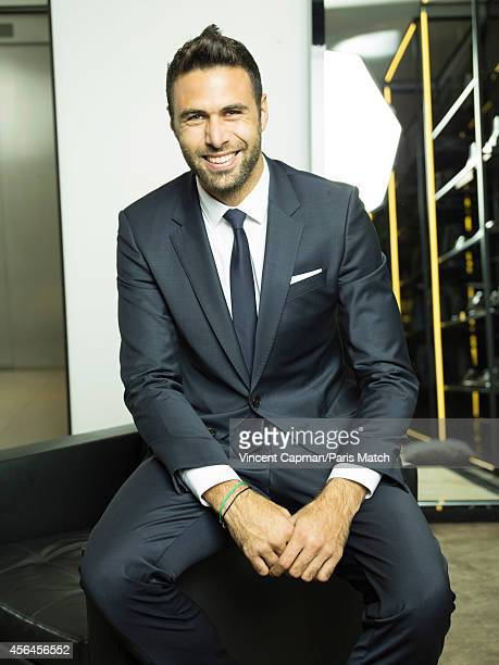 Footballer Salvatore Sirigu is photographed for Paris Match on August 28 2014 in Paris France