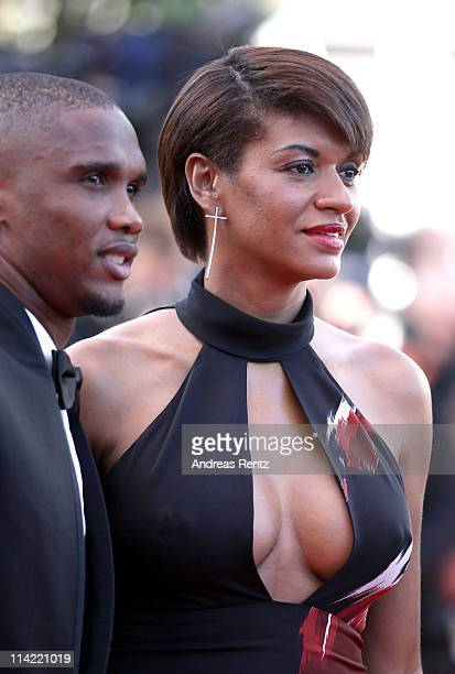 Footballer Samuel Eto'o and wife Georgette attend 'The Tree Of Life' premiere during the 64th Annual Cannes Film Festival at Palais des Festivals on...