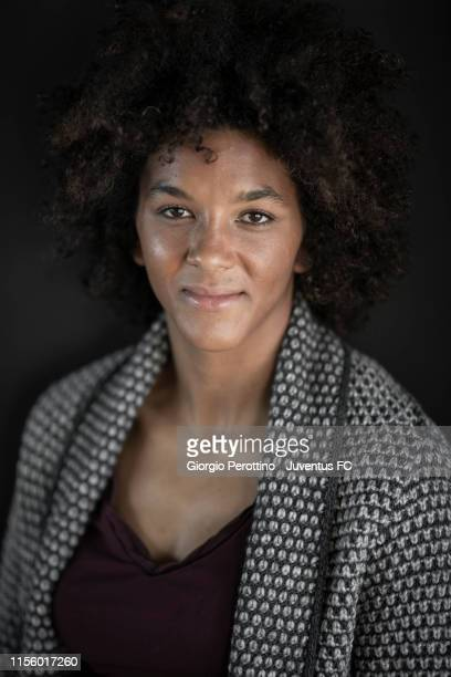 Footballer Sara Gama who plays for Italian Serie A side Juventus is photographed for Sportweek magazine on November 28 2018 in Turin Italy
