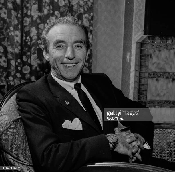 Footballer Stanley Matthews at his home prior to the BBC broadcast of his documentary 'Saturday Hero', Blackpool, England, January 10th 1965.