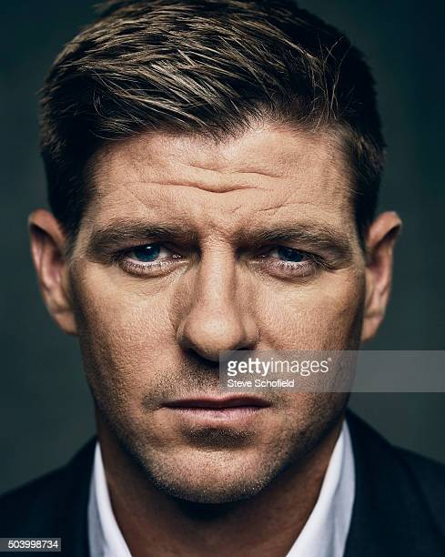 Footballer Steven Gerrard is photographed for the Guardian on September 3 2015 in Los Angeles California