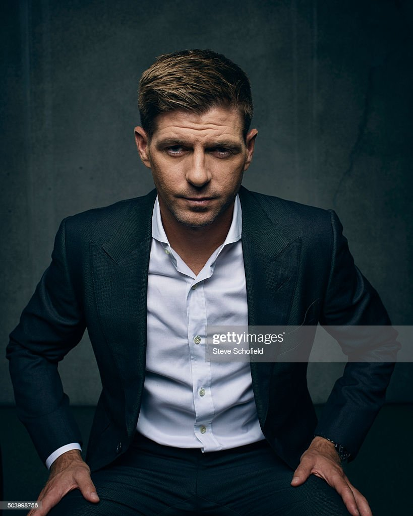 Footballer Steven Gerrard is photographed for the Guardian on September 3, 2015 in Los Angeles, California.