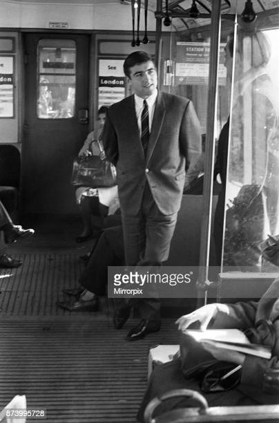 Footballer Terry Venables on his way to work using public transport in London 22nd September 1964
