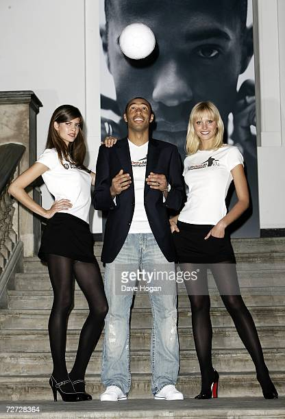 Footballer Thierry Henry attends a photocall to announce his position as an international ambassador for the Tommy Hilfiger brand in partnership with...