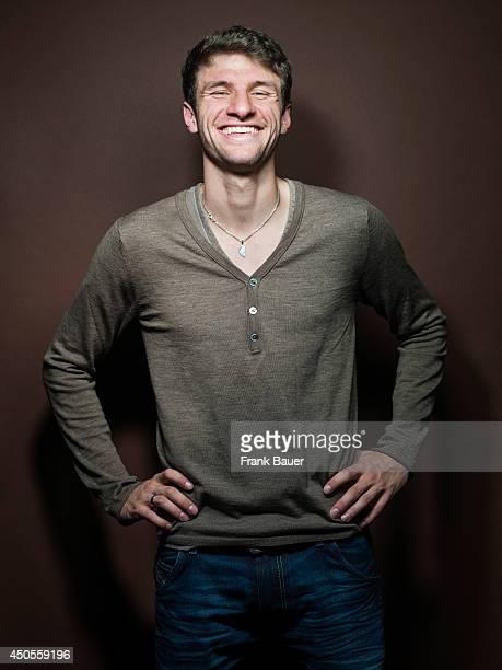 Footballer Thomas Mueller is photographed for Sueddeutsche Zeitung magazine in Munich Germany