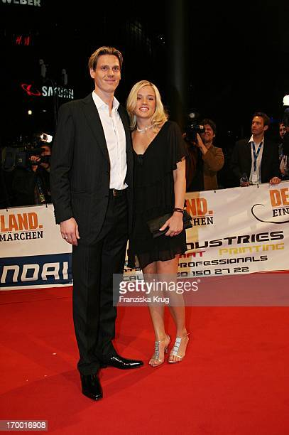 Footballer Tim Borowski and girlfriend Lena At The Premiere Of Cinema Films By S Wortmann Germany A Summer Fairytale on 031006