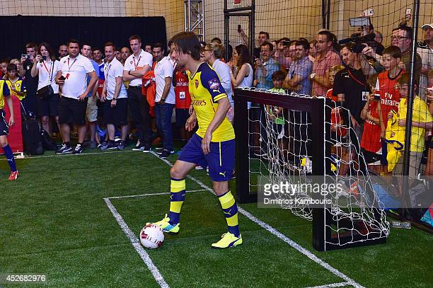Footballer Tomas Rosicky attends the PUMA and Arsenal Football Club Monumental Cannon in Grand Central Station on July 25 2014 in New York City