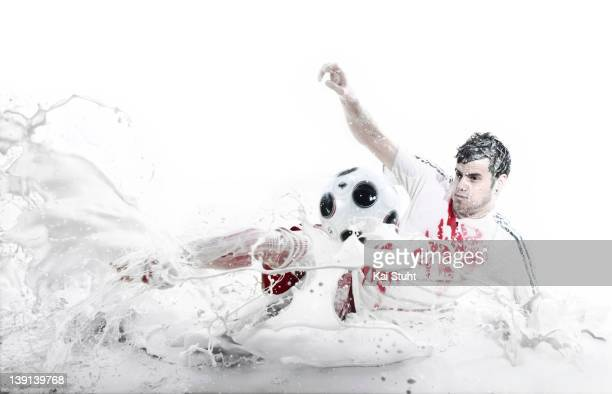 Footballer Tranquillo Barnetta is photographed on April 6, 2008 in Munich, Germany.