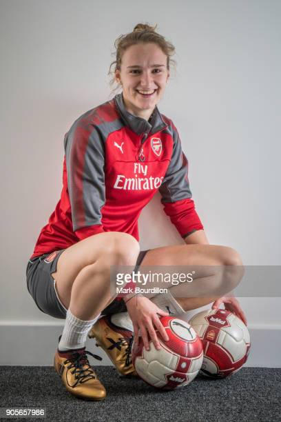 Footballer Vivianne Miedema is photographed for Sunday Times on January 4 2018 in London England