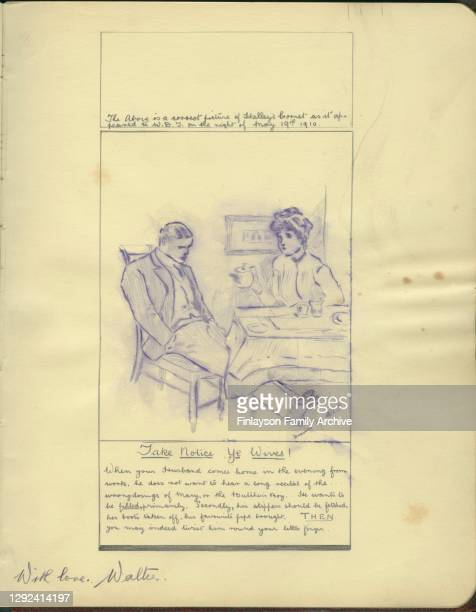 Footballer Walter Tull's autograph and a drawing from his older sister Cissie's autograph book. In his contribution to his sister Cissie's autograph...