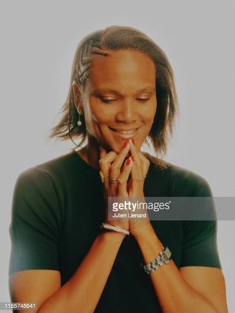 Footballer Wendie Renard is photographed for Self Assignment on February 3 2017 in Paris France