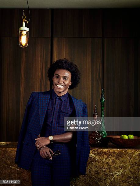 Footballer Willian Borges da Silva is photographed for Men's Health on October 1 2015 in London England