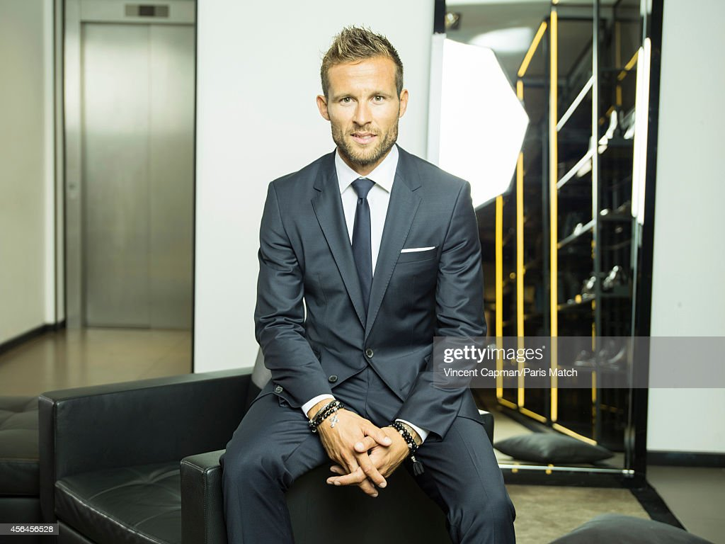 Footballer Yohan Cabaye is photographed for Paris Match on August 28, 2014 in Paris, France.