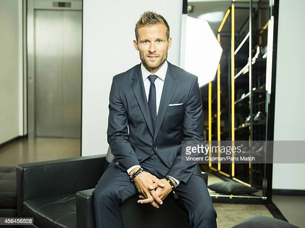 Footballer Yohan Cabaye is photographed for Paris Match on August 28 2014 in Paris France