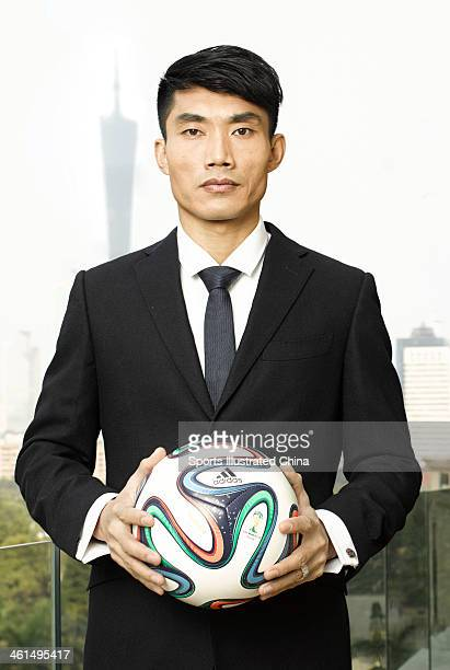 Footballer Zheng Zhi is photographed for Sports Illustrated China on December 6 2013 in Guangzhou China