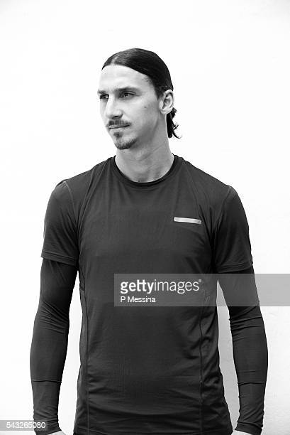Footballer Zlatan Ibrahimovic is photographed for Self Assignment on May 13 2016 in Paris France