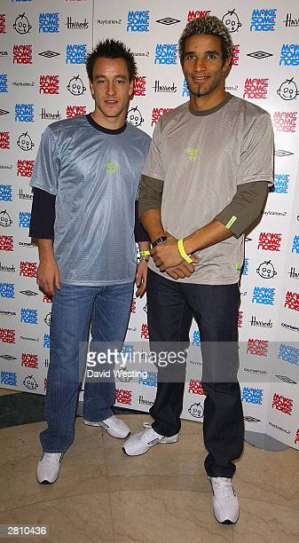 Footballers John Terry and David James attend the Make Some Noise children's concert at Grosvenor House December 14 2003 in London