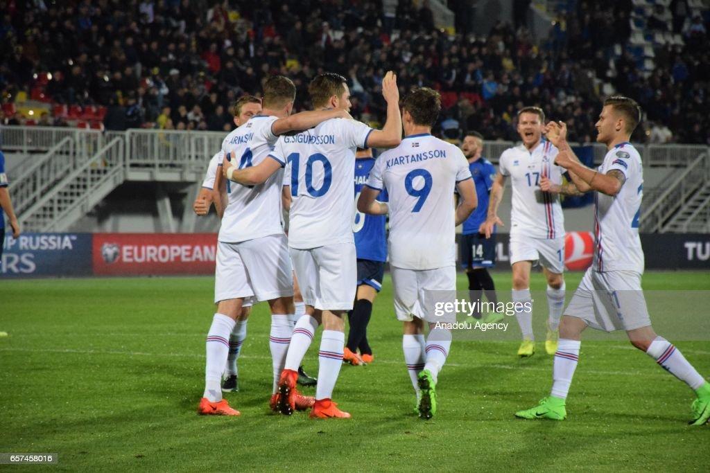 Kosovo v Iceland - 2018 FIFA World Cup Qualification match : News Photo
