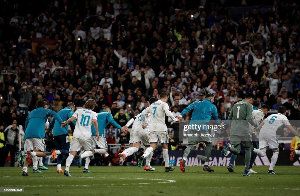 Real Madrid reach Champions League final : News Photo