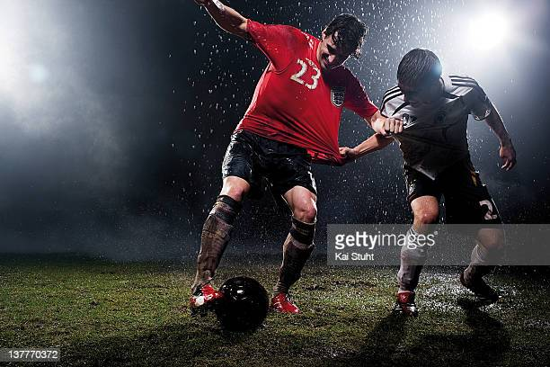 Footballers Owen Hargreaves and Philipp Lahm are photographed on March 14, 2006 in Munich, Germany.
