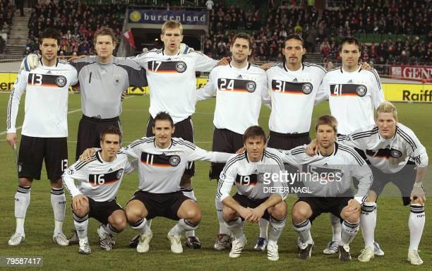 Footballers Philipp Lahm Miroslav Klose Bernd Schneider Thomas Hitzlsperger Bastian Schweinsteiger and Michael Ballack Jens Lehmann Per Mertesacker...
