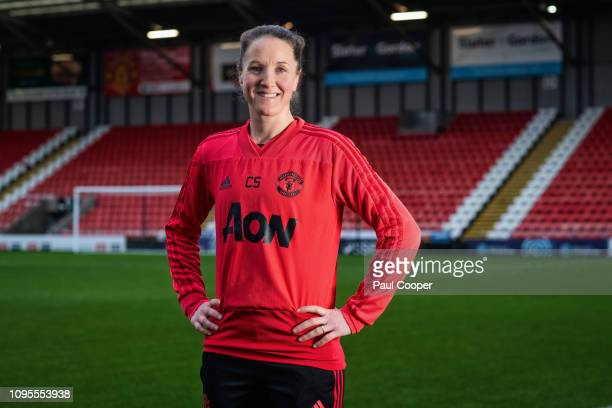 Footballing coach Casey Stoney is photographed for the Telegraph on January 25 2019 in Manchester England